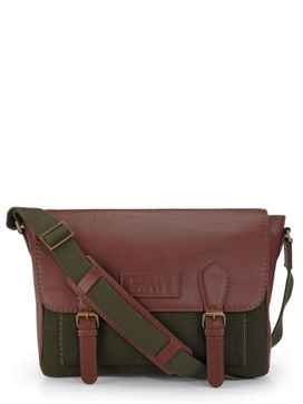 Men's Leather Messenger Bag - PR1113