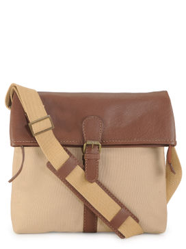 Men's Leather Messenger Bag - PR1115