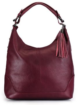 Women's Leather Hobo Bag - PR844