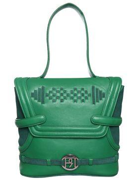 Women's Leather Shoulder Bag - PR925