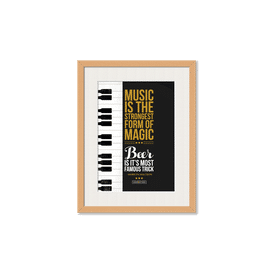 Beer Magic Framed Wall Art With Border Pine