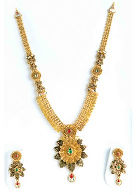 Floral Antique Haram with matching studs