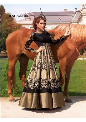 A144 SALWAR.UK  Elegent Golden