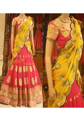 A131 SALWAR.UK B368Orange Heavy Designer Lehenga Choli