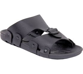 Stylos Men Black Sandals
