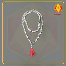 Natural Sphatik Mala A 12 mm (108 + 1 Beads)
