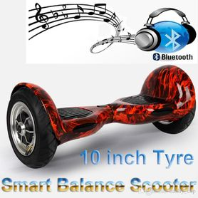 Cloud Surfer Hoverboard 10 Inch Red with Bluetooth Speaker and Remote