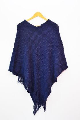 Pure Wool Blue Poncho