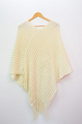 Pure Wool Off White Poncho