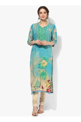 Shree Green Multicoloured Embellished Rayon Kurta