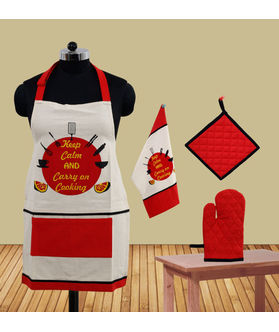 Keep Calm And Carry on Cooking Apron (Pack of 4) by Fun Club