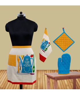 My Happy Kitchen Bistro Apron (Pack of 4) by Fun Club