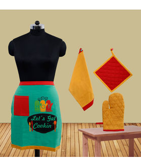 Let's Get Cookin Bistro Apron (Pack of 4) by Fun Club