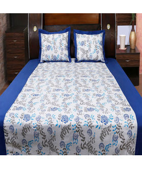 Floral Bonanza Printed Bedsheet Set W/2 Pillow Covers-Pack of 3 Pcs  by Dekor World (MORE COLOR)
