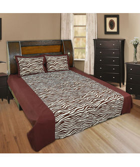 Animal Print Bedsheet Set-Pack of 3 Pcs  by Dekor World (MORE COLOR)