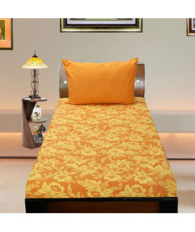 Cotton Floral Printed Single Bedsheet Set W/Pillow Cover-Pack of 3 Pcs  by Dekor World (MORE COLOR)