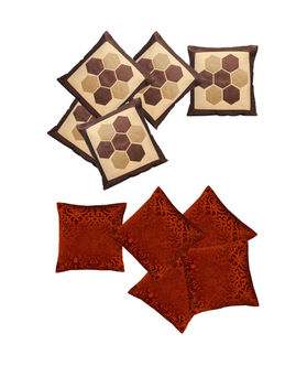 Brown delight Combo. Cushion Cover (Pack of 10) By Dekor World