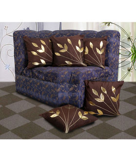 Leaf Patch Cushion Polyester Cover by Dekor World (MORE COLOR & SIZE)