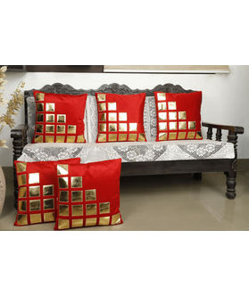 Checks Red Cushion Cover (Pack Of 5)(More Color)