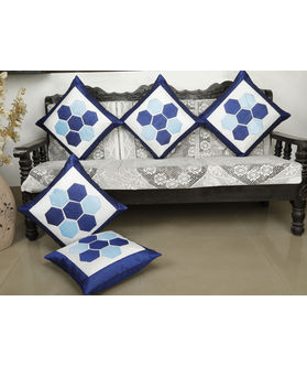 Abstract Blue Cushion Cover (Pack Of 5)(More Color)