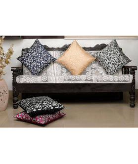 Damask Printed Multi Cushion Cover (Pack Of 5)(More Color & Size)