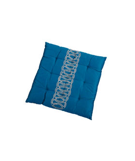 Blue Zari Embroidery Chair Pad by Dekor World