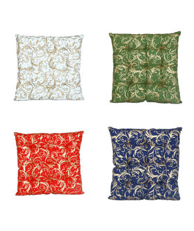 Gold Printed Cotton Chair Pad (pack of 1) (More Color)