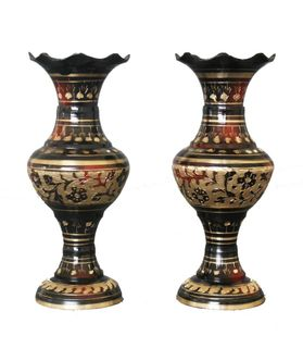Hand Crafted Flower Vase Set 2 Pcs by Dekor World