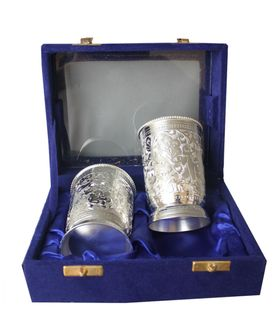 Dekor World Silver Plated Glasses 2  Pcs set
