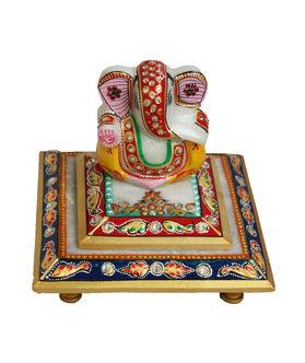 Dekor World Painted Marble Ganesha on Chocki