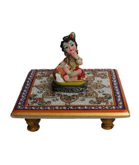 Dekor World Little Krishna on Marble Chocki