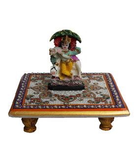 Dekor World Krishna on Marble Chocki