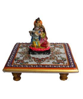 Dekor World Radha Krishna on Marble Chocki