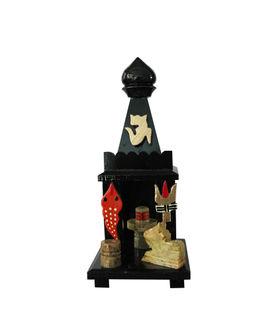 Dekor World Black Marble Mini Shiv Temple