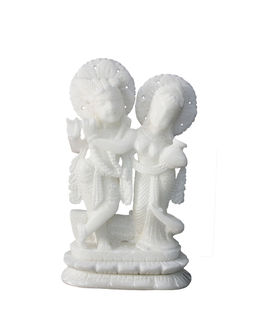 Dekor World White Marble Radha Krishna