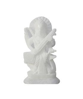 Dekor World White Marble Saraswati
