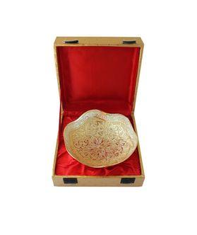 Dekor World Silver Golden Bowl