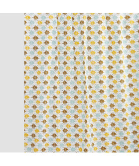 Multi Owl  Cotton Fabric by Dekor World
