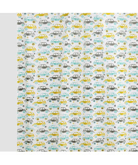 Multi Car  Cotton Fabric by Dekor World