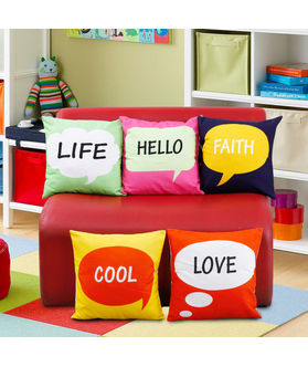 Fun Club Kidz Funky Words Cushion Collection (Pack of 5 Pcs)