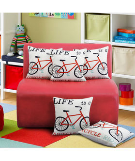 Fun Club Life is a Bicycle Cushion Cover (Pack of 5 Pcs)