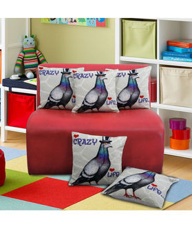 Fun Club Crazy Life Cushion Cover (Pack of 5 Pcs)