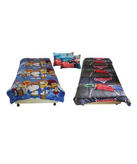 Fun Club Reversible Kids  Ac Quilt With 2 Pcs Pillow Cover