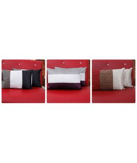 Elegance Deco Filled Pillow Cover(Pack of 2 Pcs)