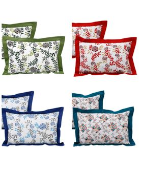 Mixing with Floral Cotton Pillow Cover (Pack of 2 Pcs)