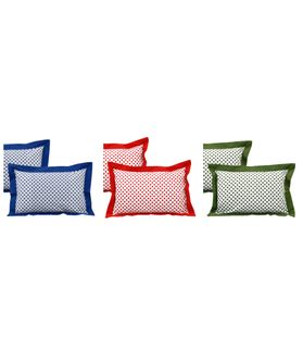 Polka Dot Cotton Pillow Cover (Pack of 2 Pcs)