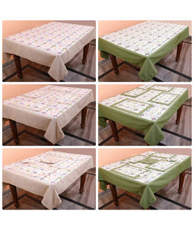 Dekor World Kilim Printed Green Table Cover (Pack of 1)