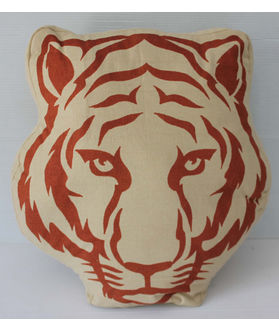 Fun Club Filled Tiger Face Pillow (Pack of 1)