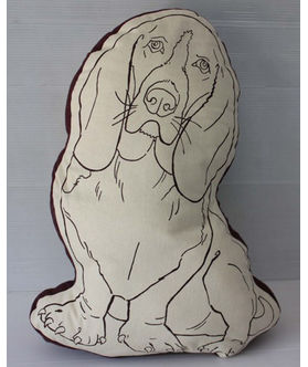 Fun Club Filled Dog Shape Pillow (Pack of 1)