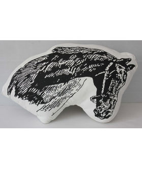 Fun Club Filled Horse Shape Pillow (Pack of 1)